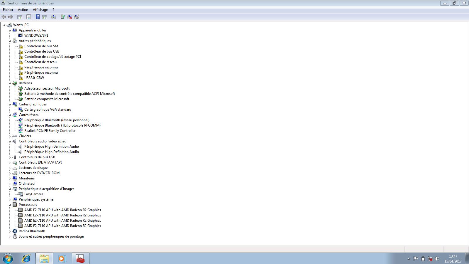 pilote controleur de codage decodage pci windows 7