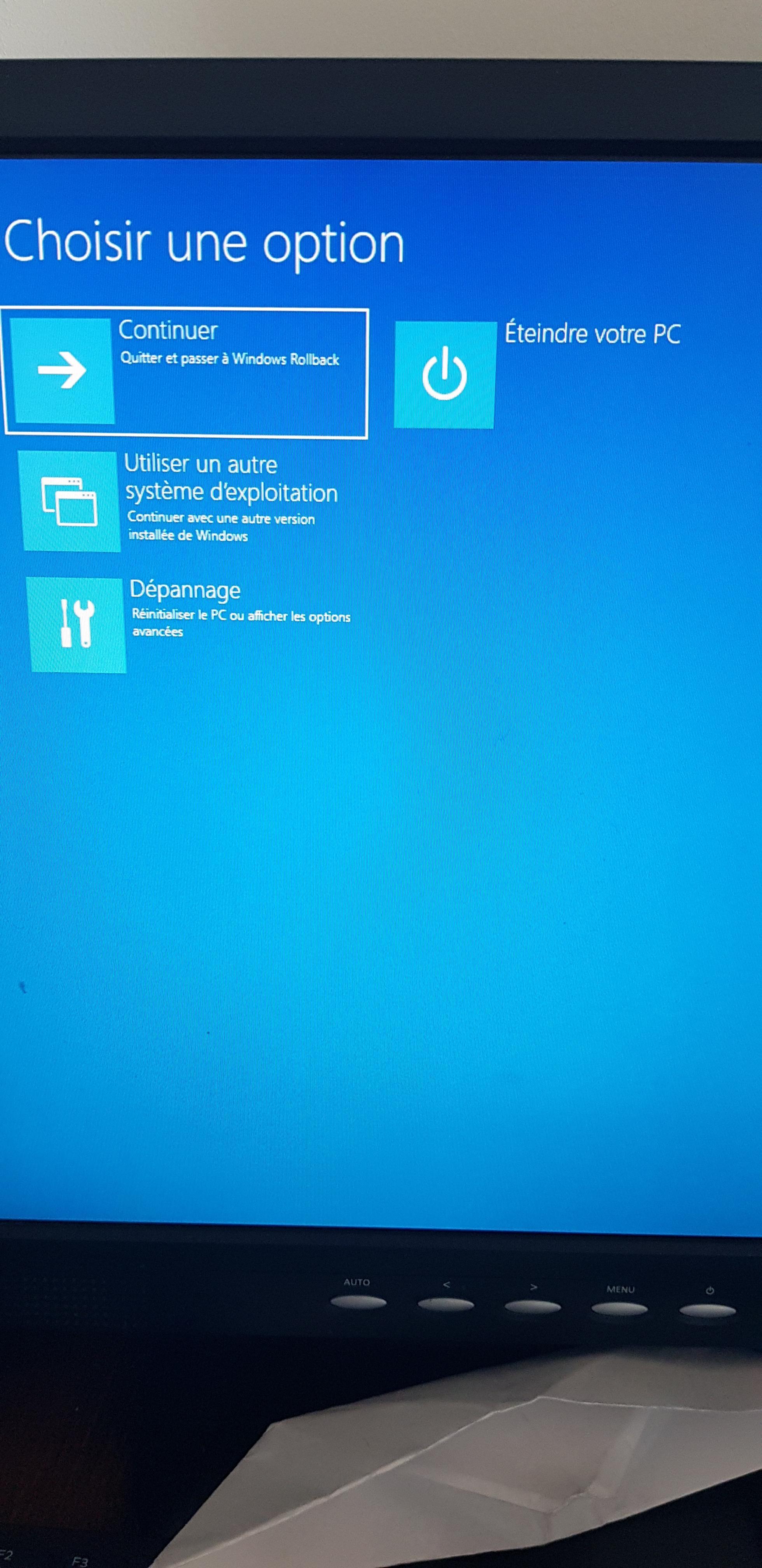 pc bloqu u00e9 sur  u00e9cran bleu suite mise a jour windows 10