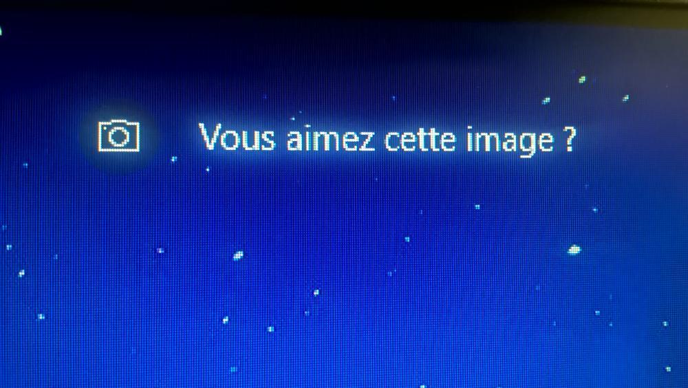 Appareil photo sur écran de veille