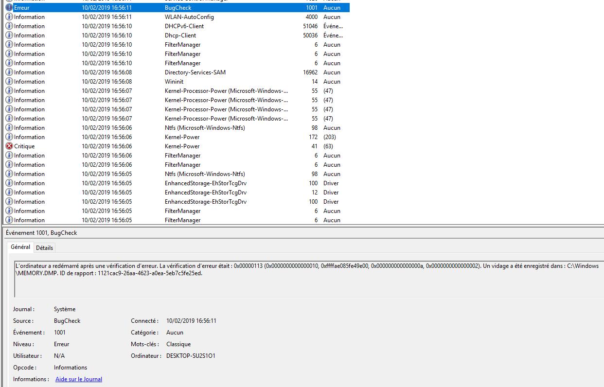 Arrêter ou Redémarrer : pc se fige - Windows - Le Crabe Info
