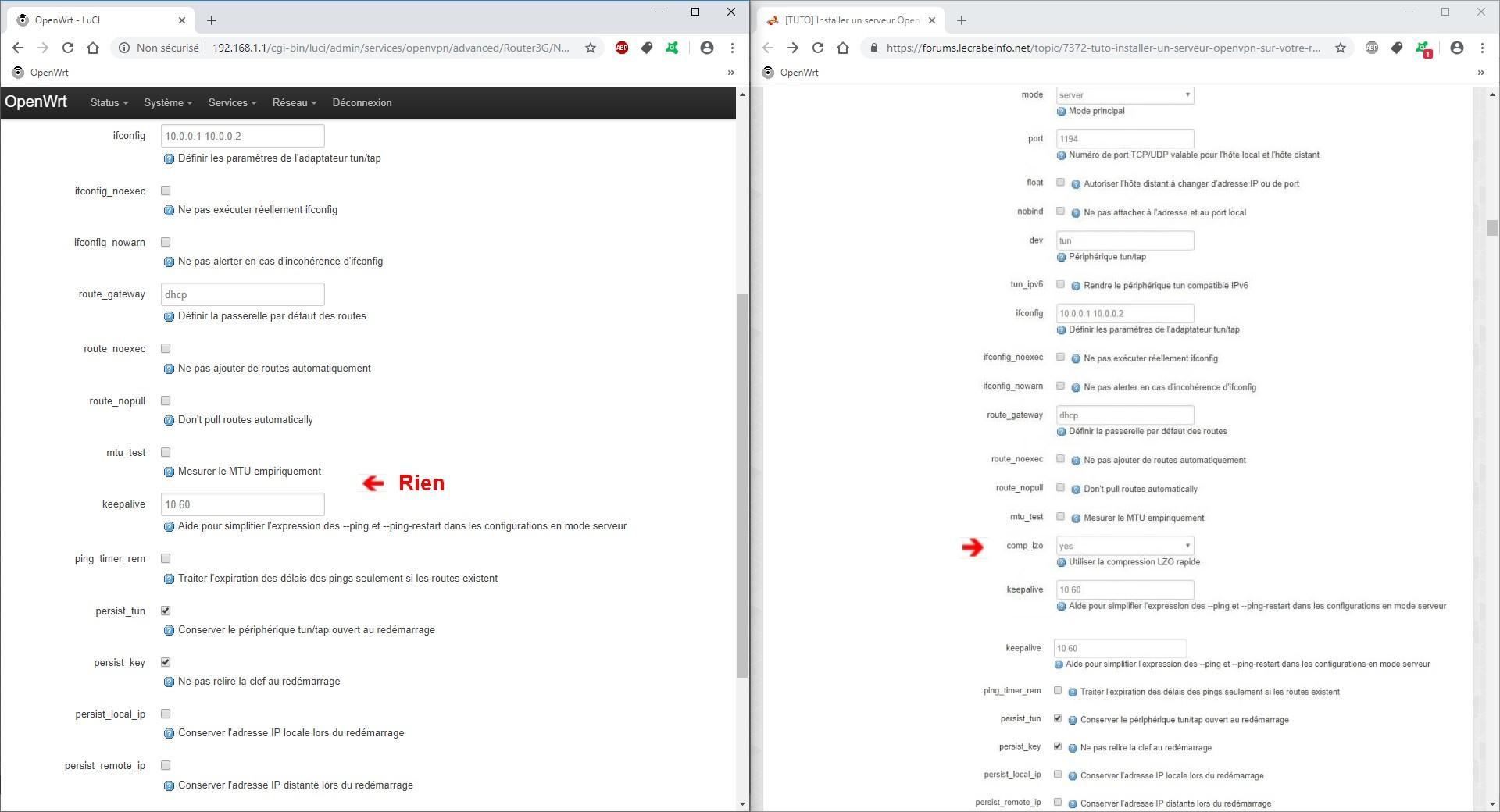 TUTO] Installer un serveur OpenVPN sur votre routeur OpenWrt / LEDE