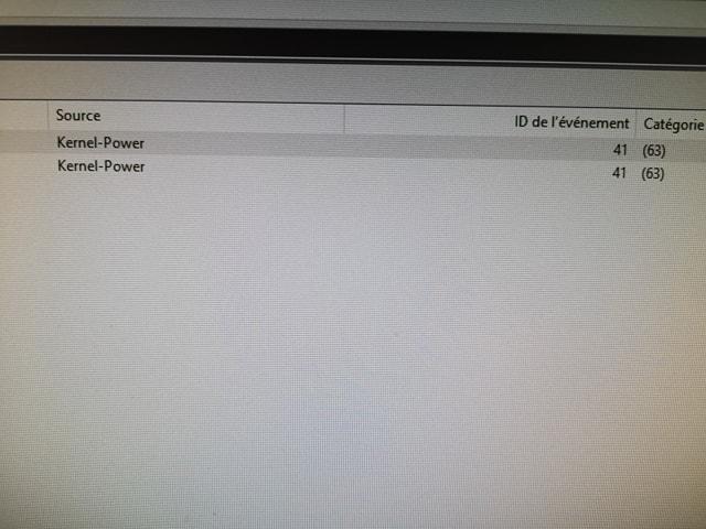 Erreur Kernel-Power 41(63) - Windows - Le Crabe Info